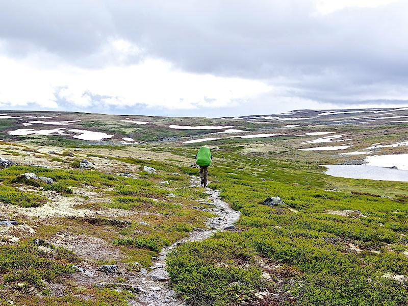 Wandelpad op de Hardangervidda
