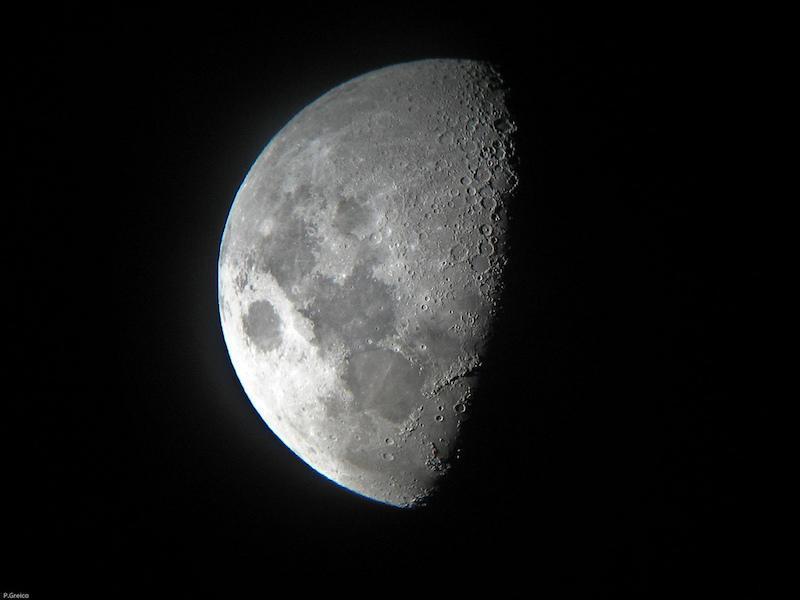 Sterrenkijken met een verrekijker - de maan