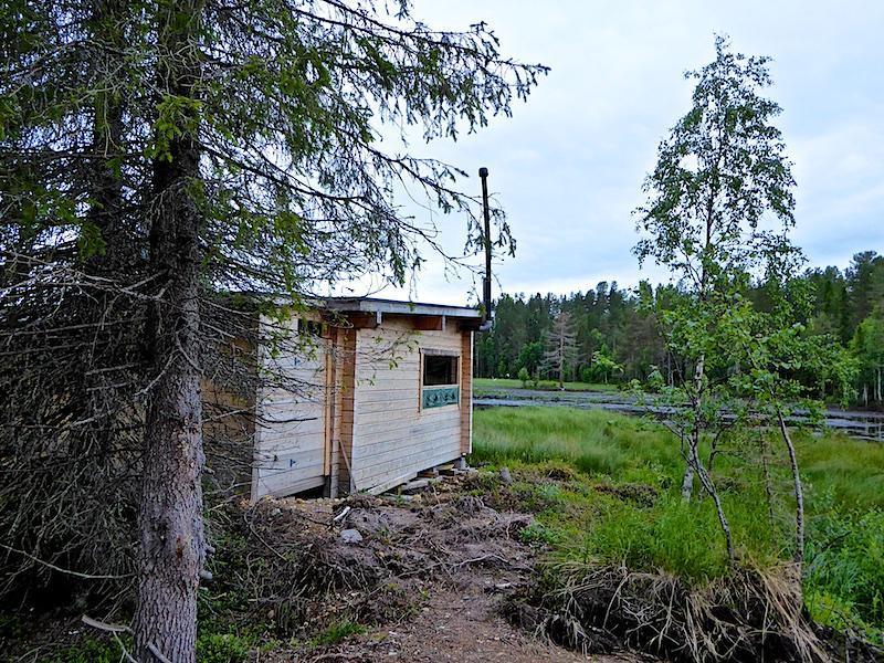 Observatiehut beren spotten in Finland