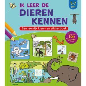 Ik leer de dieren kennen - kleur- en stickerboek